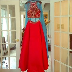 Dresses & Skirts - A red two piece prom dress worn once